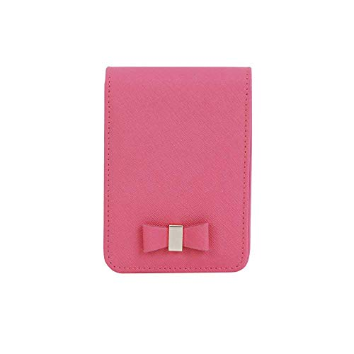 JNJSTELLA Damen Leder Zigarettenetui & Feuerzeug Kosmetiktasche mit Spiegel One Size Hot Pink