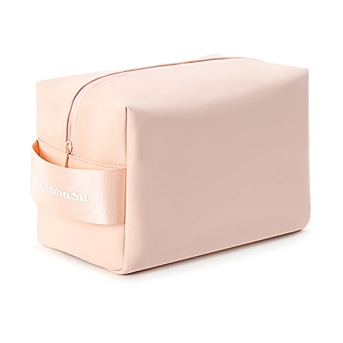 Dizdvizd Beauty Case da Viaggio, Grande Borsa da Toilette, PU Impermeabile Trousse Trucchi Cosmetici Organizer per Uomini e Donne - Rosa