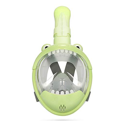 Niños de dibujos animados Natación de cara completa Snorkel Máscara Niños Snorkeling Natación Buceo