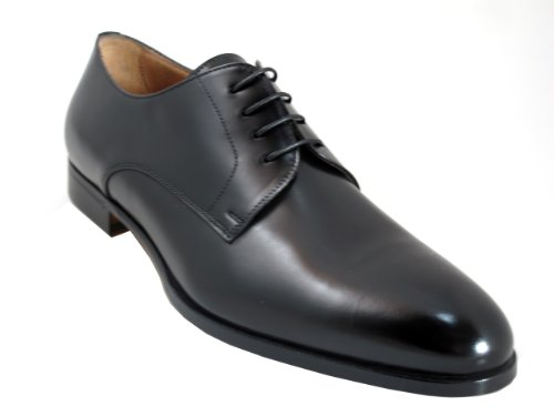 Doucals Men's 41189 Lace Up Dressy/Casual Italian Shoes,Black Size 44