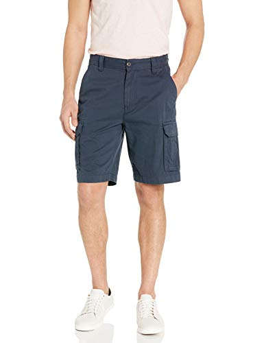 Amazon Essentials Classic-Fit Cargo Short Pantaloncini, Blu Marino, 30W