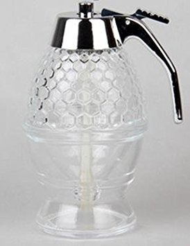 Pinzhi Miel et Distributeur de sirop Miel Acrylique Fluide Liquide Pot