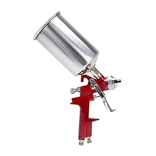Pistola de pulverización profesional HVLP de 1,4 mm, 1000 ml, para pintar el coche, color rojo