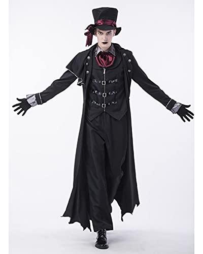 YTRDKJSW Adulto Demonio Vampiro Disfraz Discotecas De Carnaval De Halloween Pareja Cosplay Traje De Actuacin Escnica,Large Male