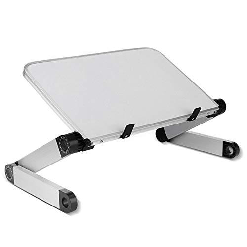 Gesh Soporte para ordenador portátil, plegable, ergonómico, para cama, ángulo ajustable, escritorio, sofá, escritorio, color blanco