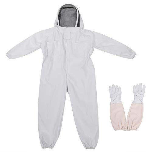 Estink- Imker-Schutzanzug, Baumwolle Imker-Anzug Ganzkörper Imkeranzug, Overall, mit Handschuhe und Hut, für Professionelle Imker und Anfänger(L)