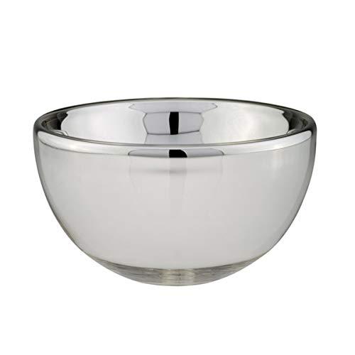 kleine runde Silberglas Schale Ø 16 cm Bauernsilber Dekoschale Deko Glasschale