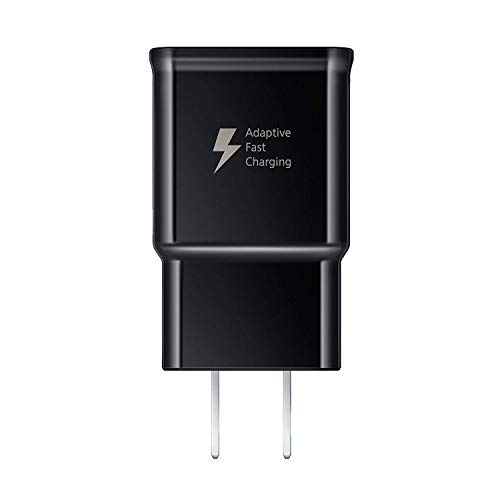 Samsung Adaptive Fast Charging USB Wall Charger EP-TA20JBE+5' Micro USB Cable-Black