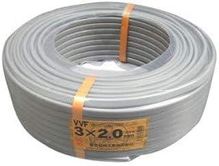 富士電線工業 低圧配電用ケーブル(VV-F) 3C×2.0mm(灰)100m