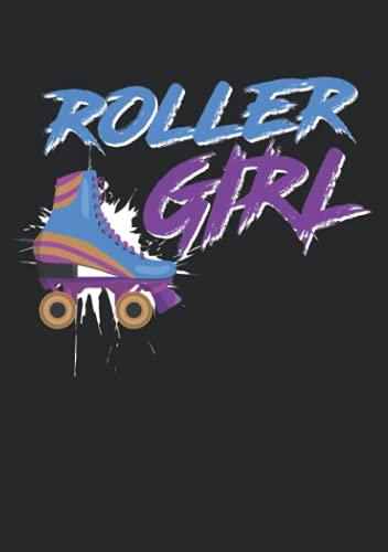 Notizbuch A5 liniert mit Softcover Design: Rollerskate Girl Rollschuh Geschenk Spruch Retro Vintage: 120 linierte DIN A5 Seiten