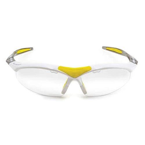 Karakal Pro 3000 Eyeguard Unisex, color blanco/amarillo