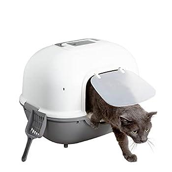 Iris Ohyama Cat Litter Box Wnt-510 Grey Pour Chat