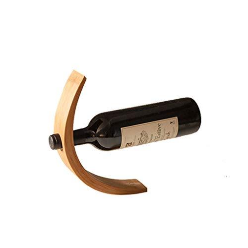 xiaokeai Botellero Estante del Vino de bambú Plus Estante del Vino Decoración Creativa Vino Estante de Vino Vitrina Estante de la Botella de Vino en Rack Vino Estante
