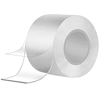 Double Sided Transparent Nanometer Tape Multi Functional Movable Reusable of Powerful Tape,Used to Fix The Carpet Paste Photo Posters Etc.