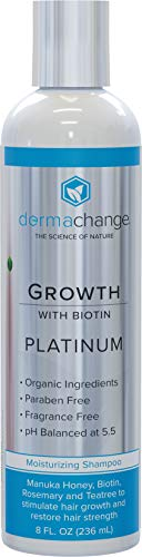 Platinum Hair Growth Moisturizing Shampoo - With Argan Oil, Biotin & Tea Tree Extract - Supports Hair Regrowth - Hair Loss Treatments (8 oz) - Made in USA