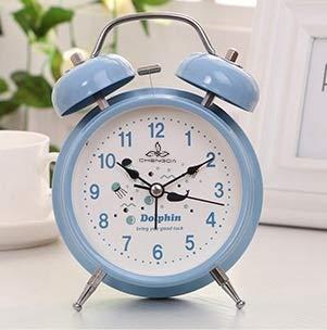 LZDD Reloj Decorativo Dobles de Alarma de Campana de Metal Reloj de Alarma Reloj de cabecera de Color Caramelo de Estudiantes de los niños (Color : D)