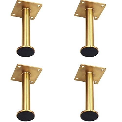 YWTT Skåp möbler ben 4 st 12 cm hårnål bordsben metall soffa skåp fötter kraftig hårnål i fötter med skruvar perfekt för gör-det-själv TV-bord bord frukostbar stativ bänk (guld, 13 cm)