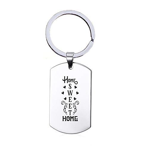 Sleutelhanger RVS - Home Sweet Home