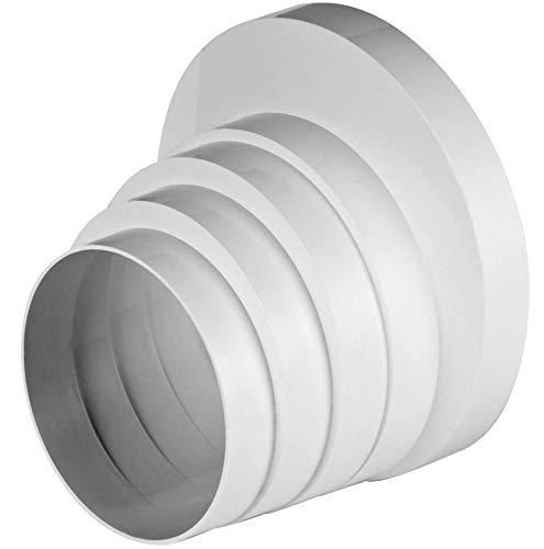 Reduzierstück 150  auf 125 mm PVC  weiß Reduktion Rundrohr