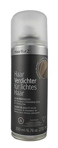Hairfor2 Haarverdichtungsspray gegen lichtes Haar (200ml, Dunkelblond)