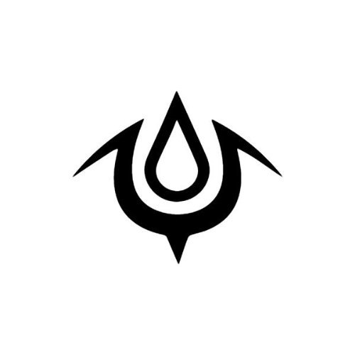 Fan Art Rendition Mark of Exalt Logo 5.5' Wide Fire Emblem Symbol Custom Game Logo Die Cut Decal - Black Color