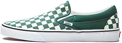 Vans Men s Classic Slip On Checkerboard Bistro Green True White Size 8 product image