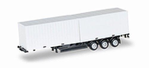 herpa 076494-002 Containerchassis Krone 40 feet mit 2 x 20 feet Container, Miniaturfahrzeuge