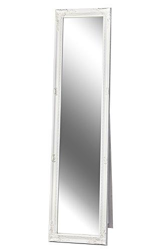 Standspiegel Ankleidespiegel Barock weiß GLORIA 160 x 40 cm