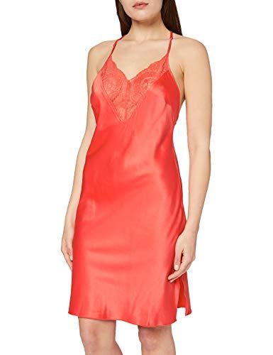 Sylvie Flirty Lingerie Damen Nachthemd Belma, Orange, Medium