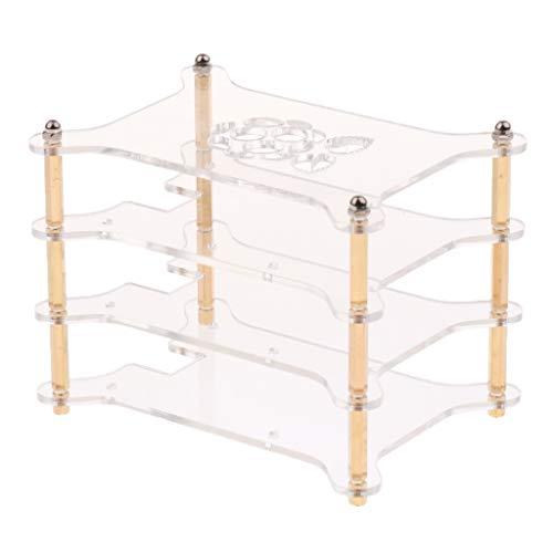 Homyl Clear Acrylic Cluster Case 3 Layer Shelf Stack per Raspberry Pi 3/2 B E B +