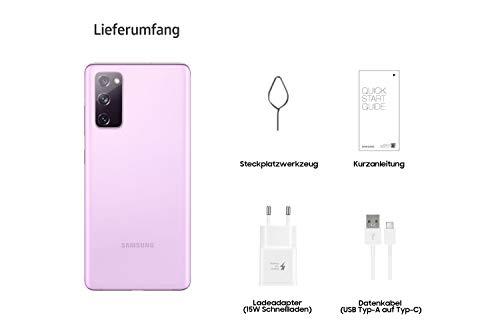 Samsung Galaxy S20 FE 5G, Android Smartphone ohne Vertrag, 6,5 Zoll Super AMOLED Display, 4.500 mAh Akku, 128 GB/ 6 GB RAM, Handy in Pink inkl. 36 Monate Herstellergarantie [Exklusiv bei Amazon]