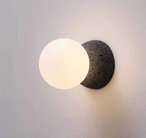 Lámpara de Pared para Sala de Estar de Vidrio Creativa nórdica, lámpara de Pared Moderna Minimalista para Dormitorio de diseñador, Modelo de Estudio, lámpara de Pared para habitación D100CM * H21CM