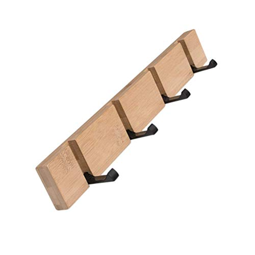 Jishipin Gancho para Colgador Percheros de Madera Ganchos para Abrigos Perchero Moderno Simple y Que Ahorra Espacio para Chaquetas Abrigos Bufandas Bolsos y más (Color : Wood Color, Size : 4)
