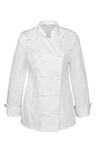 GREIFF Damen-Kochjacke   Regular Fit   Cuisine Basic  Style 5407  Weiss  Gr: M