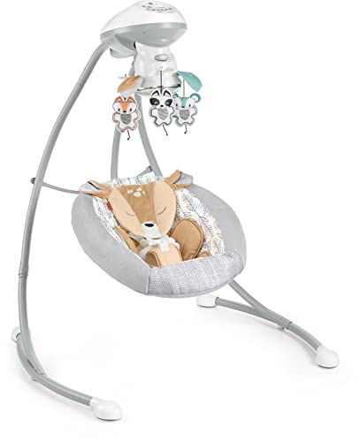 Fisher-Price Fawn Meadows Dual Motion Baby Swing with Music, Sounds and Motorized Mobile, Multicolor