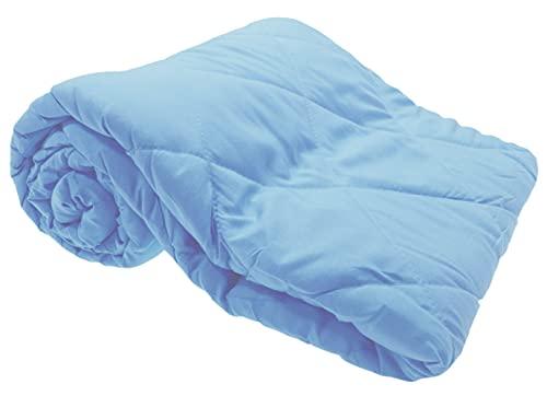 Leichtsteppbett 135x200 cm blau hell Microfaser Sommer Bettdecke leichtes Steppbett Decke Tagesdecke
