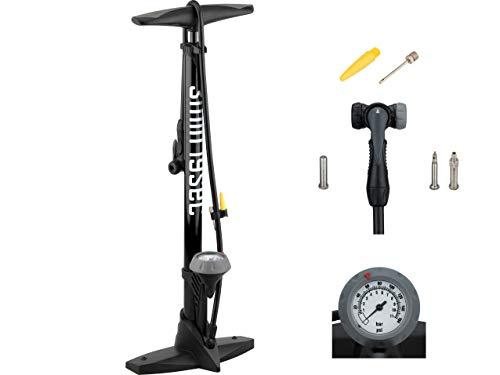3min19sec Fahrradluftpumpe - Hochwertige Fahrradpumpe für alle Ventile - Profi Standpumpe mit Manometer für Rennrad, MTB, E-Bike, Trekking Rad und mehr