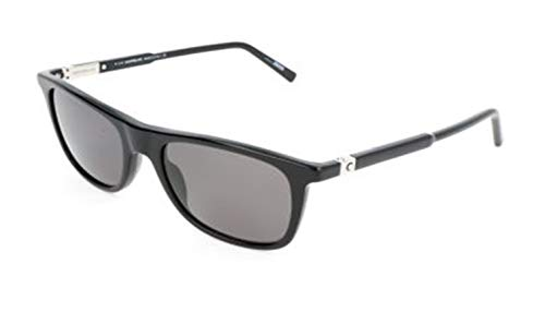 Montblanc Mont Blanc Sunglasses Mb647S 01D-54-19-140 Gafas de sol, Negro (Schwarz), 54 para Hombre
