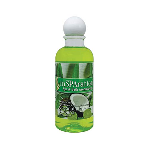 inSPAration Spa and Bath Aromatherapy 371X Spa Liquid, 9-Ounce, Coconut Lime Verbena