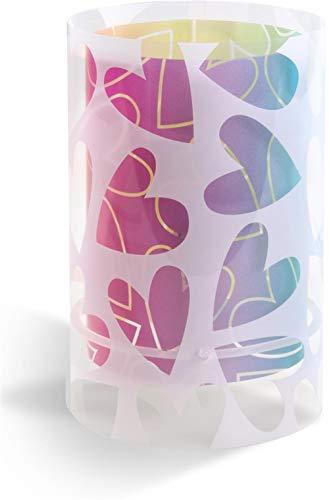 Dalber Lámpara infantil de Mesilla Cuore Corazones Multicolor, 40 W