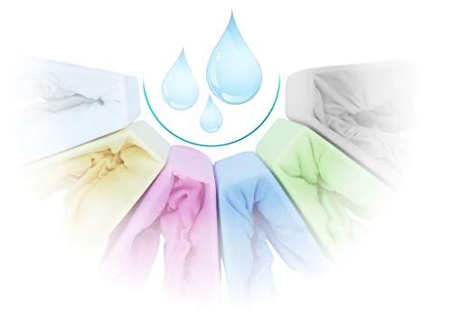 Spannbettlaken Kinderbett Inkontinenz Wasserdicht FROTTE mit Polyurethane Membrane 60x120 70x140 80x160 Top Qualität Hohe Gewicht 180g/m2 (80x160, Rosa)