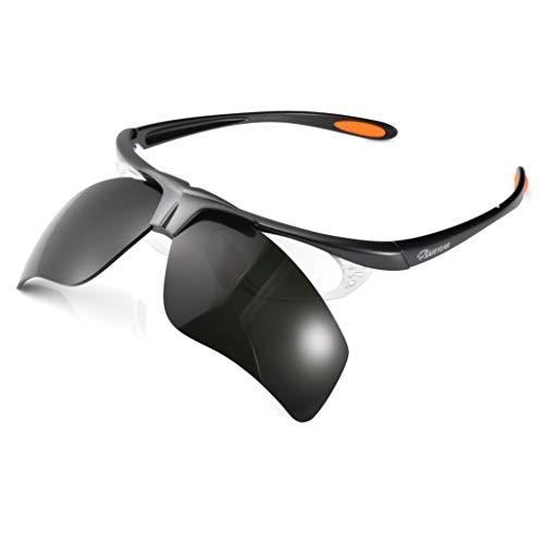 SAFEYEAR Gafas de trabajo de seguridad de soldadura【ANSI Z87.1】 Lentes oscuras antiarañazos Protección UV400