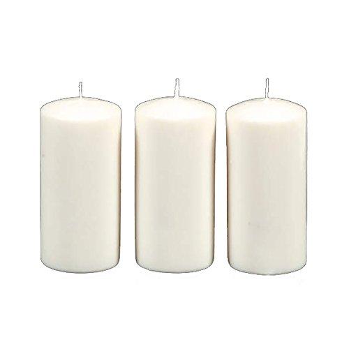 ArtVerse Unscented (3 Pieces) Pillar Candle, White, 4 Each