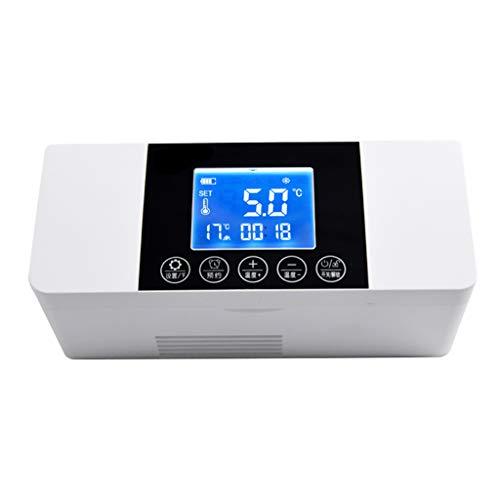 Ice Autokühlschrank Tragbarer USB-Insulinkühler Gefrierschrank Mini-Kleinwagen-Ladekühlschrank 2-8 ° C für die Heimreise