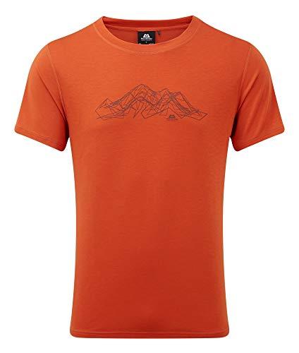 Mountain Equipment Groundup Mountain Tee orange - L
