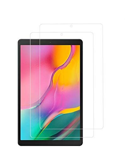 WEOFUN 2 Pezzi Vetro Temperato per Samsung Tab A 10.1 2019, Pellicola Protettiva Samsung Tab A 10.1 2019 [Durezza 9H,Anti-Scratch,Anti-Impronte, Facile da Pulire]