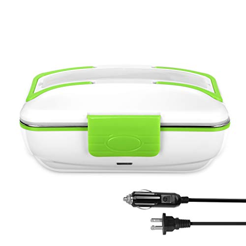 YOHOOLYO Electric Lunch Box for Car 12V and Home 110V Portable Food Warmer Food Heater with Removable Stainless Steel Container