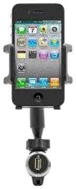 National Cellular Universal Vehicle Mount and Charger for All Micro-USB Phones - Retail Packaging - Black