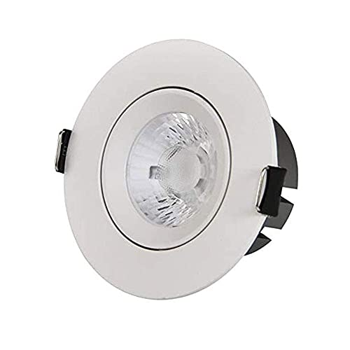 HUAQINEI 5W 7W 10W LED Ultrafino empotrable Downlight Redondo de aleación de Aluminio Panel de luz Luz de Techo para baño Cocina Iluminación Ligero Ligero
