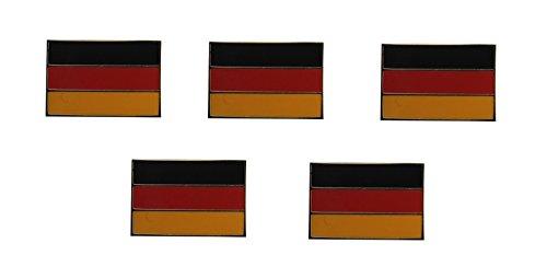 Yantec Flaggenpin 5er Pack Deutschland rechteckig Pin Anstecknadel Fahnenpin